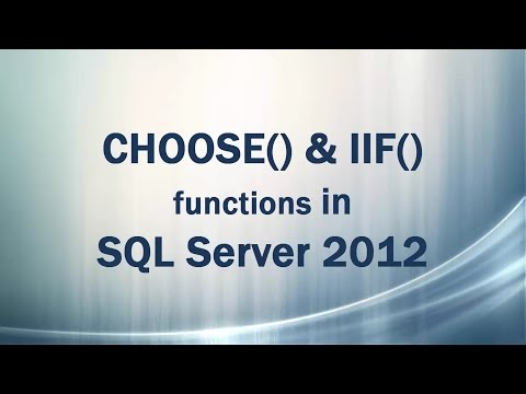 CHOOSE() and IIF() functions in SQL Server 2012