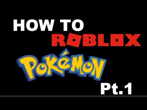 Roblox: How to create your own Pokemon game! pt 1: Main Menu