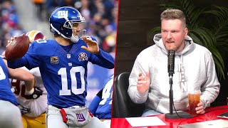 Pat McAfee Reacts To Eli Manning's Retirement