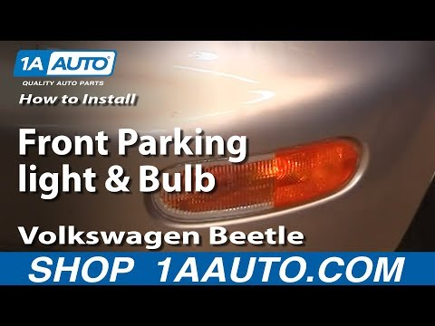 How to Install Replace Front Parking light and Bulb Volkswagen Beetle 98-05 1AAuto.com