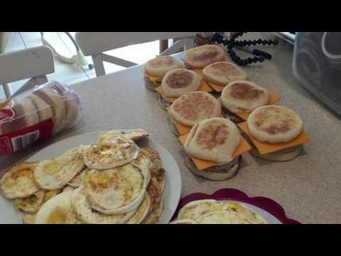 Freezer Meal - Breakfast Sandwiches