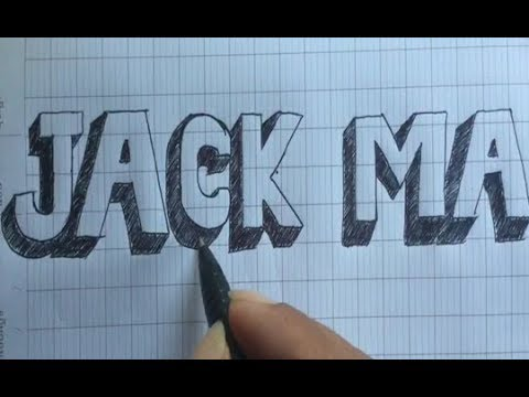 how to design JACK MA letters - fancy letters