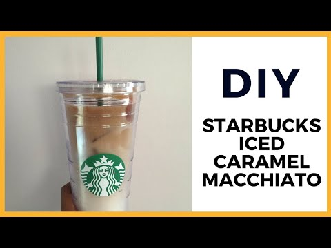 How to Make a Starbucks Iced Caramel Macchiato at Home
