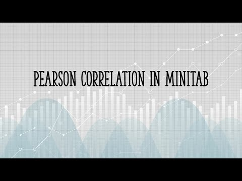 How to Find Pearson's Correlation Coefficient in Minitab