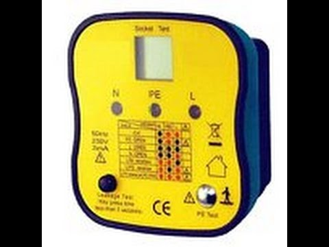 Socket Tester Including Proper Ground Test