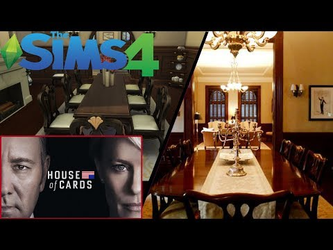 HOUSE OF CARDS TOWNHOUSE || TV SET RECREATION || The Sims 4: Speed Build
