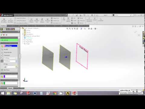 Solidworks | How to insert a new plane | Solidworks tutorial