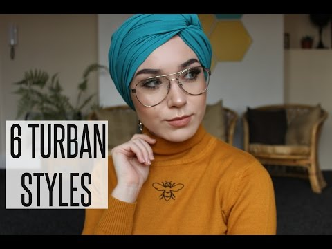 6 TURBAN STYLES with Chiffon Scarves  | NABIILABEE