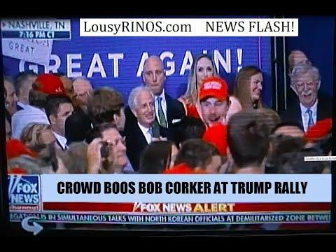 Crowd BOOS Bob Corker at Nashville Trump Rally 05-29-2018