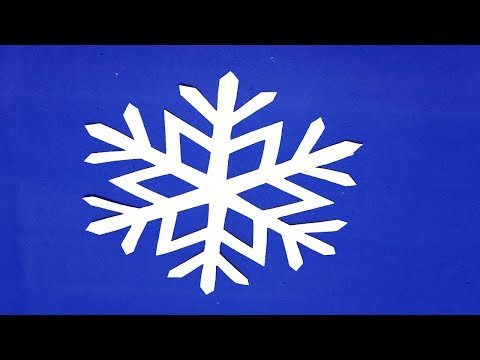 How to make paper snowflakes easy? Simple paper cutting design DIY paper craft