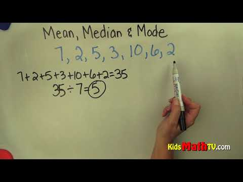 Find the mean, mode and median math video tutorial
