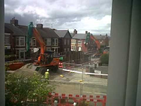 Work on the drains/sewers outside our house