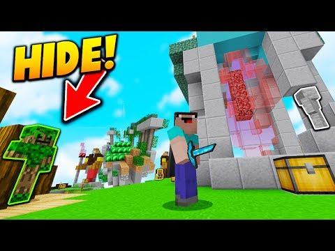 MEGA SKYWARS HIDE AND SEEK! - Minecraft SKYWARS Hide & Seek (7 PLAYERS!)