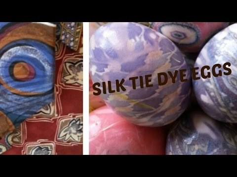 DIY: SILK TIE DYE EGGS using thrifted neckties (tutorial)