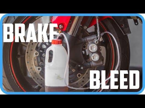 How To Make Your Brakes Bleed   Yamaha R6