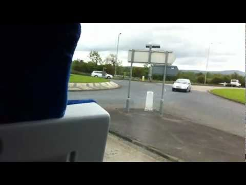 First time riding the bus in Belfast, Northern Irleand