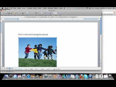 How to insert pic into word doc on Mac