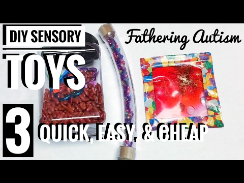 3 DIY Sensory Toys For Autism or SPD | Quick, Easy, & Cheap DIY Fidget Toys