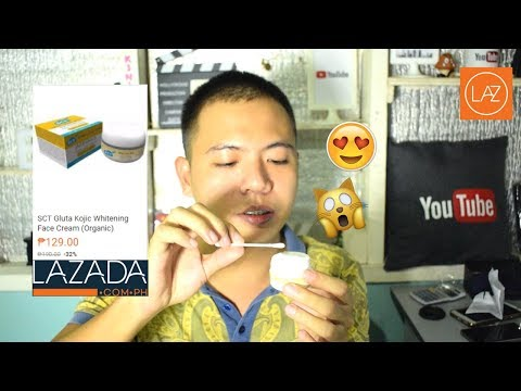 SCT Gluta Kojic Whitening Face Cream Unboxing Review from Lazada