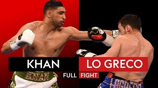 FULL FIGHT: Amir Khan knocks out Phil Lo Greco in 40 seconds and then clashes with Kell Brook!