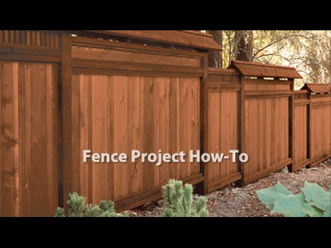 How-To: Stain a Fence