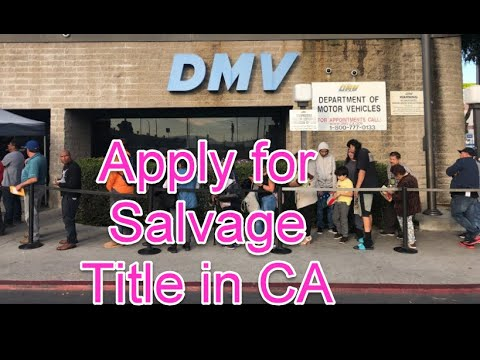 Pt #2 How to Get Auto Salvage Title in CA, Vin Verification, Brake/Light Inspection, New Plates