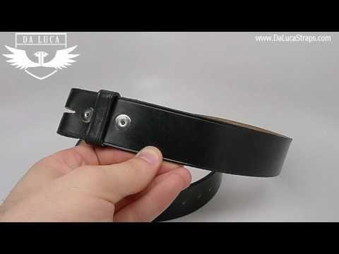 DaLuca Handmade Leather Belt - Black
