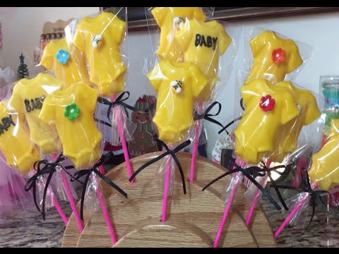 Baby Onesie Candy Lollipops (How To) Baby Shower