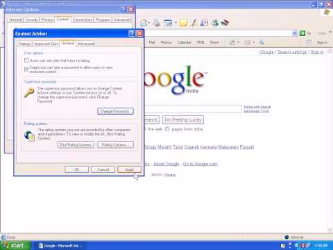 How To Password Protect Internet Explorer In Windows XP