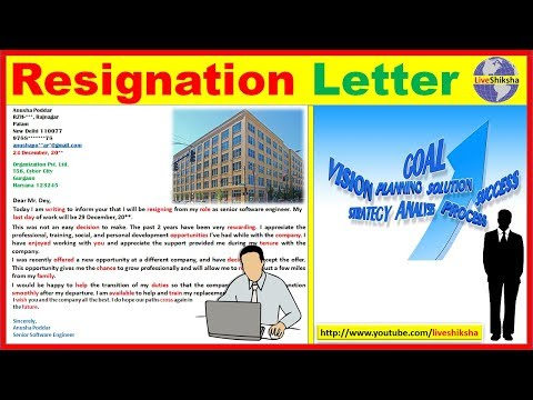 How To Write Resignation Letter From Job In English || Best Resignation Letter