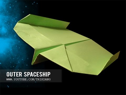 BOOMERANG  PAPER AIRPLANE - How to make a paper airplane that Flies BACK | Outer Spaceship +