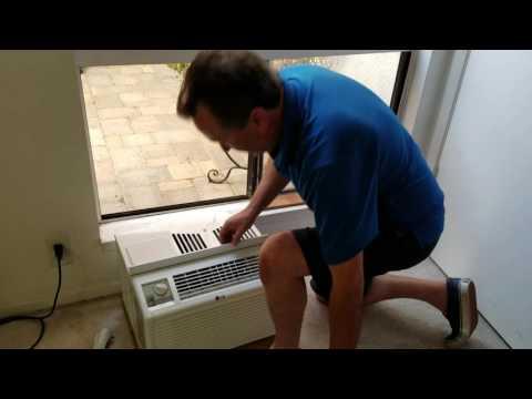 AC window installation - in a slider window - the easiest way
