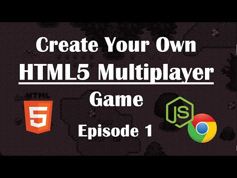1- Making Multiplayer HTML5 Game: Setup & Sending Files. NodeJs Tutorial Guide