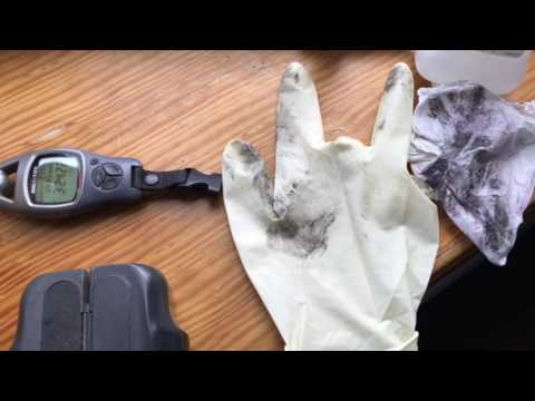 How to clean sticky rubber camera or binoculars