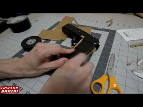 Making a cardboard and tape prop gun (for the Nathan drake holster)