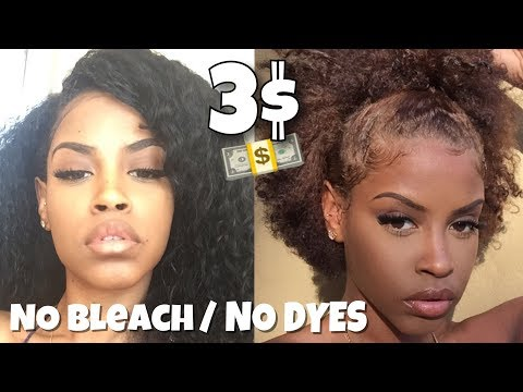Black to Light Brown| NO Bleach NO Hair Dye for 3 DOLLARS