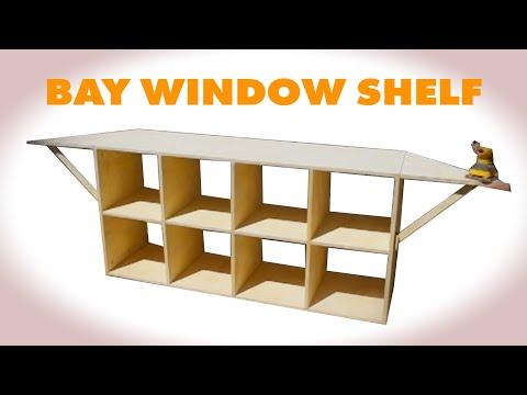 DIY Cube Shelf w/ Flip Up Wings