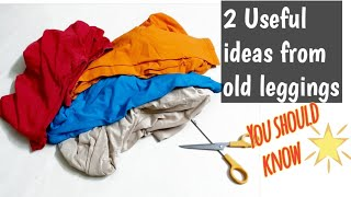 Download Make 2 Useful things from old leggings#you should know #oldclothes reuse ideas#Recycle old leggings Video