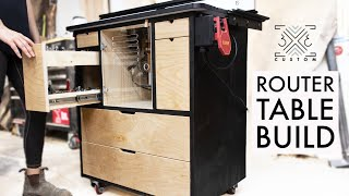 Router Table Cabinet Build with STORAGE and DUST COLLECTION