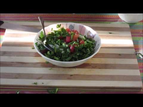 HOW TO MAKE PARSLEY SALAD QUICKLY.....RECIPE