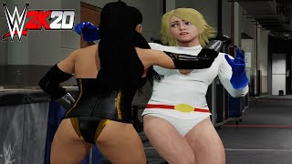 Power Girl v Superwoman! - WWE 2K20 Requested Backstage Brawl