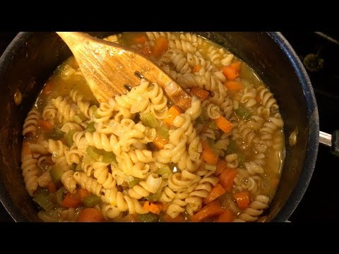 One Pot Oil Free, Low Sodium, NO-Chicken Noodle Soup | RECIPE