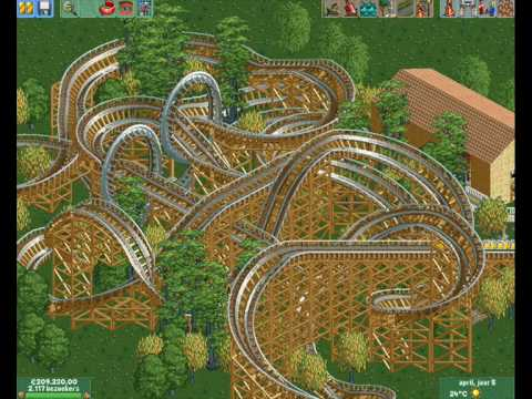 RollerCoaster Tycoon 2 - building a big coaster