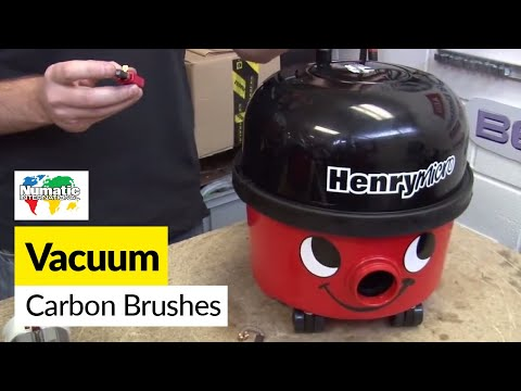 How to replace Numatic (Henry) carbon brushes