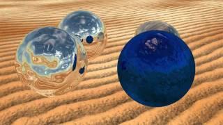 Blender 2.55: 4 Types Of Reflective Spheres In The Desert