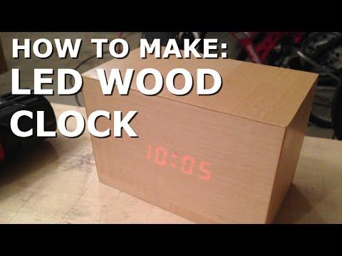 Make: LED WOODEN CLOCK