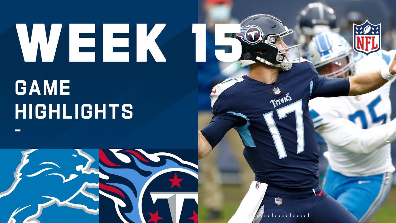 Lions vs. Titans Week 15 Highlights   NFL 2020