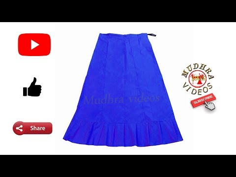 6 panelled saree petticoat cutting and stitching #DIY# part 30
