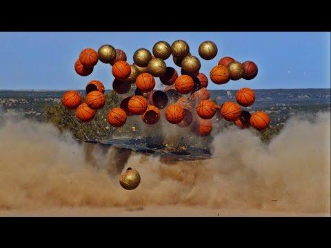 Exploding Basketball Pyramid   Dude Perfect