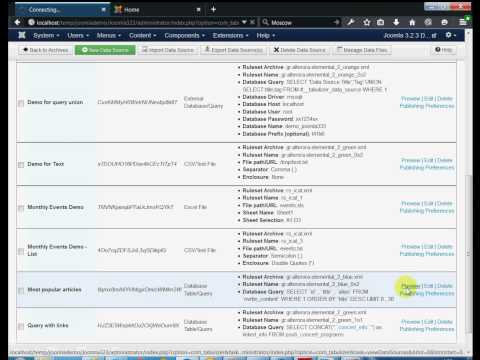 Joomla Tutorial - Display database queries and tables